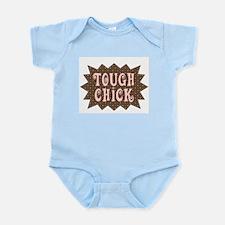 Tough Chick (pink/brown) Infant Bodysuit