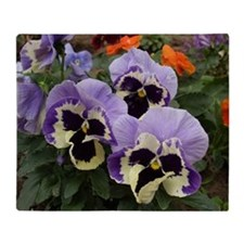 Multi colored Pansies Throw Blanket