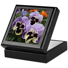 Multi colored Pansies Keepsake Box