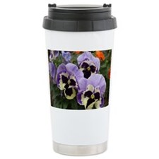 Multi colored Pansies Travel Coffee Mug