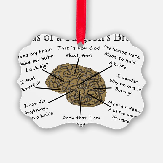 Atlas of a Surgeons Brain Ornament