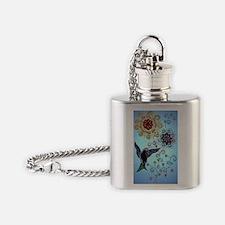 hummingbirdornament Flask Necklace
