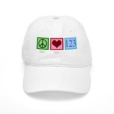 peacelovenumberswh Baseball Cap