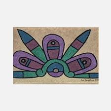 Aztec Cosmos Glyph 23 x 35 Rectangle Magnet