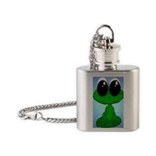 frogornament Flask Necklace