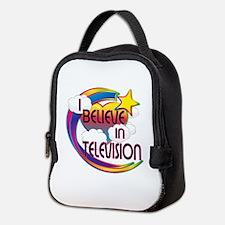 I Believe In Television Cute Believer Design Neopr