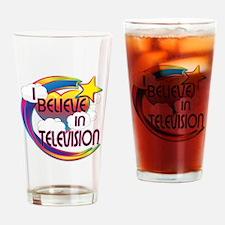 I Believe In Television Cute Believer Design Drink