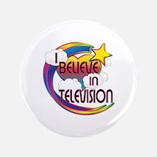 """I Believe In Television Cute Believer Design 3.5"""""""