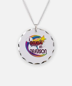 I Believe In Television Cute Believer Design Neckl