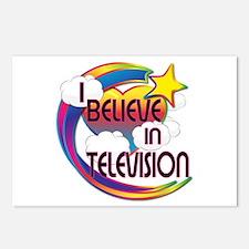 I Believe In Television Cute Believer Design Postc