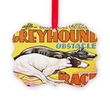 greyhound obstacle Ornament