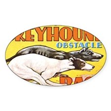 greyhound obstacle Decal