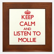Keep Calm and listen to Mollie Framed Tile