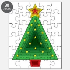 Triangle Christmas Tree Puzzle