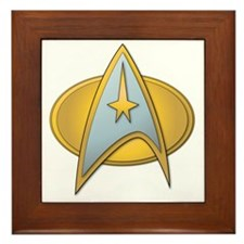 starfleet badge 3 Framed Tile