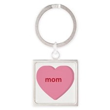 Candy Heart - Mom Square Keychain