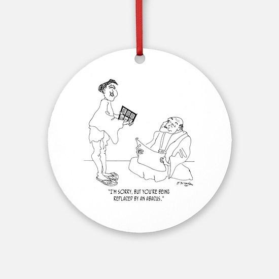 1186_abacus_cartoon Round Ornament