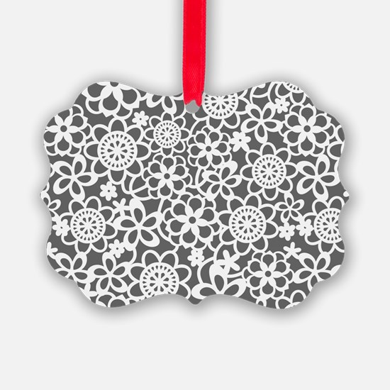 floral_lace_pattern_toiletry Ornament