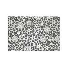 floral_lace_pattern_toiletry Rectangle Magnet