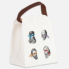 ninjapolymathsDARK Canvas Lunch Bag