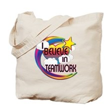 I Believe In Teamwork Cute Believer Design Tote Ba