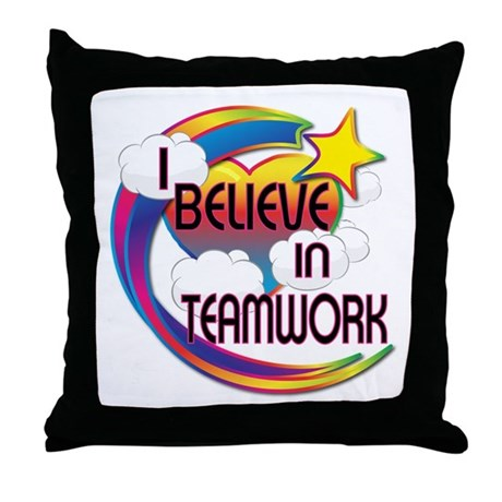 I Believe In Teamwork Cute Believer Design Throw P