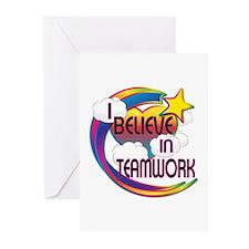 I Believe In Teamwork Cute Believer Design Greetin