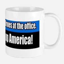 Drones-Wake-up-America-Bumper-Sticke Mug