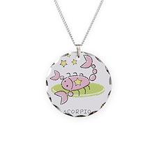 kidszodiacscorpio Necklace Circle Charm