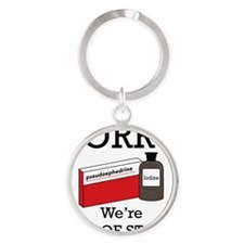 Out-Of-Stock Round Keychain