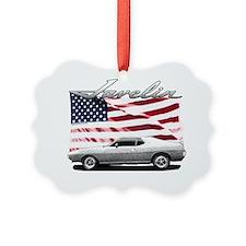 AMC AMX Javelin on USA flag Ornament