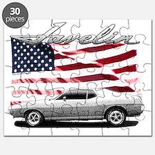 AMC AMX Javelin on USA flag Puzzle