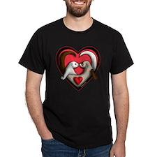 Valentine Ferret Heart T-Shirt