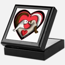 Valentine Ferret Heart Keepsake Box