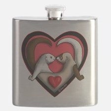Valentine Ferret Heart Flask