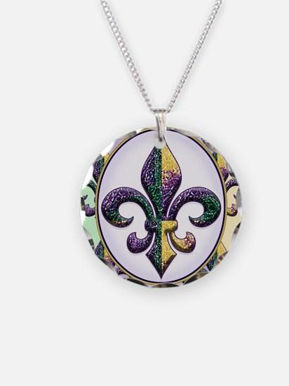 FleurMGbeadsPcOfMg Necklace Circle Charm