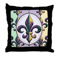 FleurMGbeadsPcOfMg Throw Pillow