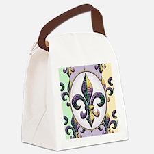 FleurMGbeadsPcOfMg Canvas Lunch Bag