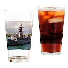 meyerkord ff framed panel print Drinking Glass