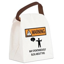 WARNING BLOGGER Canvas Lunch Bag