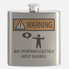 SPONTANEOUS BASEBALL Flask