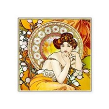 "KEEPSAKE Topaz Mucha Square Sticker 3"" x 3"""