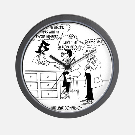 6041_physics_cartoon Wall Clock