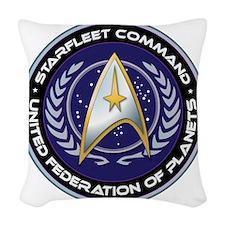 Starfleet Command Woven Throw Pillow