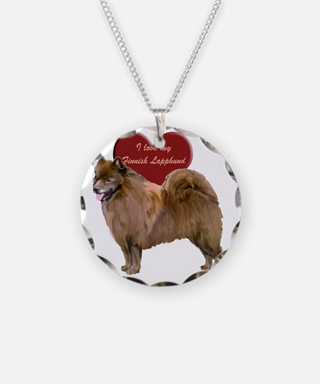 finnish lapphund heart Necklace