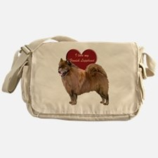 finnish lapphund heart Messenger Bag