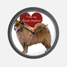 finnish lapphund heart Wall Clock