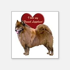 "finnish lapphund heart Square Sticker 3"" x 3"""