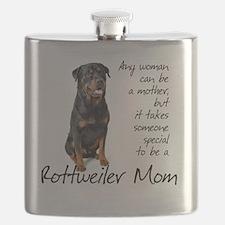 Rottie Mom Flask