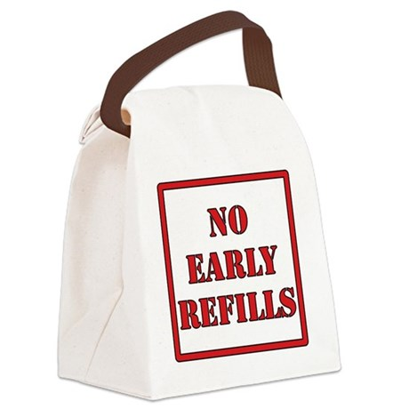 No-Early-Refills Canvas Lunch Bag
